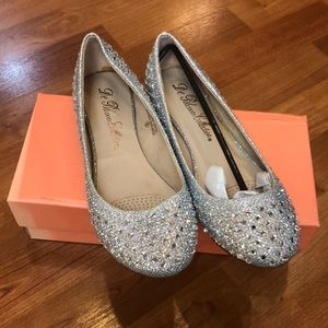 De Blossom Collection evening flats (silver)
